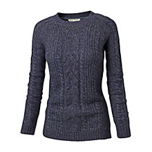 Buy Fat Face Ayla Pointelle Jumper, Navy Online at johnlewis.com