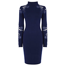 Buy Coast Atla Lace Knitted Dress, Navy Online at johnlewis.com