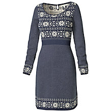 Buy Fat Face Fairisle Knit Cotton Dress, Navy Online at johnlewis.com