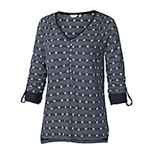 Buy Fat Face Floral Stripe Henley Top Online at johnlewis.com
