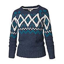 Buy Fat Face Fairisle Jumper, Navy Online at johnlewis.com