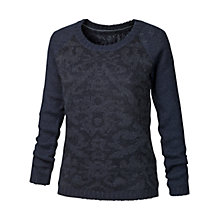 Buy Fat Face Cross Stitch Sweatshirt, Navy Online at johnlewis.com