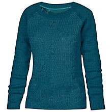 Buy Fat Face Chloe Cable Jumper, Peacock Online at johnlewis.com