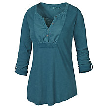 Buy Fat Face Woven Bib T-Shirt, Peacock Online at johnlewis.com