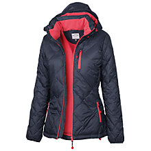 Buy Fat Face Technical Quilted Jacket, Navy Online at johnlewis.com