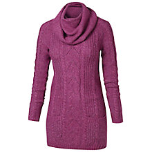 Buy Fat Face Snood Neck Tunic Jumper, Pink Rose Online at johnlewis.com