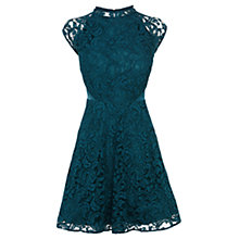 Buy Coast Laura Lace Dress, Teal Online at johnlewis.com