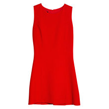 Buy Mango Textured Floral-pattern Dress, Bright Red Online at johnlewis.com