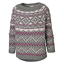 Buy Fat Face Sophie Fairisle Yoke Jumper, Mid Marl Online at johnlewis.com