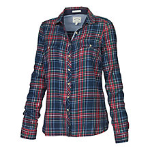 Buy Fat Face Classic Fit Tartan Shirt, Navy Online at johnlewis.com