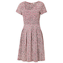Buy Fat Face Kew Primrose Dress, Crimson Online at johnlewis.com