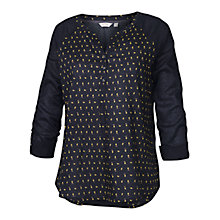 Buy Fat Face Raglan Popover Shirt, Phantom Online at johnlewis.com