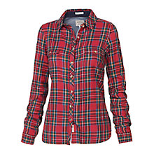 Buy Fat Face Classic Fit Tartan Shirt, Crimson Online at johnlewis.com