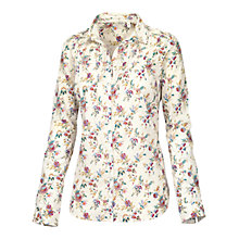 Buy Fat Face Pretty Gypsy Floral Shirt, Ivory Online at johnlewis.com