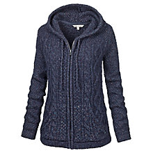 Buy Fat Face Alicia Cable Zip Through Cardigan, Navy Online at johnlewis.com