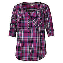 Buy Fat Face Juna Tartan Cotton Top, Amethyst Online at johnlewis.com