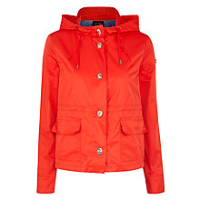 Buy Armani Jeans Shower Proof Hooded Jacket, Red Online at johnlewis.com