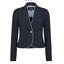 Buy Armani Jeans Contrast Piping Blazer, Navy Online at johnlewis.com