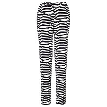 Buy Armani Jeans Zebra Trousers, Navy/white Online at johnlewis.com