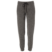 Buy Max Studio Herringbone Trousers, Black Online at johnlewis.com