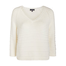 Buy Armani Jeans Ribbed Jumper, White Online at johnlewis.com