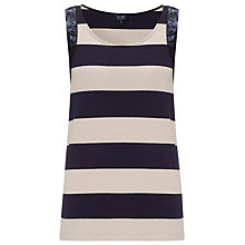 Buy Armani Jeans Stripe/Sequin Vest, Navy Online at johnlewis.com