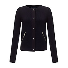 Buy Armani Jeans Textured Button Jacket, Navy Online at johnlewis.com