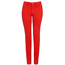 Buy Armani Jeans High Rise Slim Leg Jeans, Red Online at johnlewis.com
