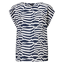 Buy Armani Jeans Zebra T-shirt, Navy/White Online at johnlewis.com