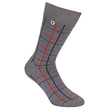 Buy Barbour Cowgate Tattersall Socks, Grey Melange Online at johnlewis.com