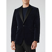 Buy Reiss Jenson Velvet Blazer, Navy Online at johnlewis.com