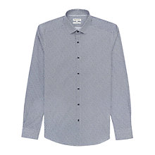 Buy Reiss Creature Micro Leopard Print Shirt, Blue Online at johnlewis.com