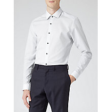 Buy Reiss Albion Geometric Print Shirt, White Online at johnlewis.com
