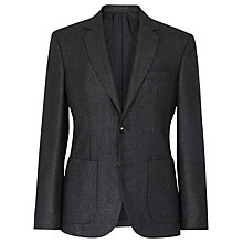 Buy Reiss California Textured Blazer, Black Online at johnlewis.com