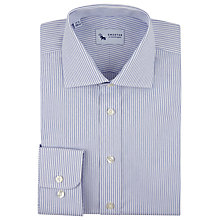 Buy Chester by Chester Barrie Striped Cotton Shirt, Blue Online at johnlewis.com