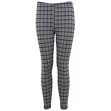 Buy Miss Selfridge Mini Check Tube Trousers, Black Online at johnlewis.com