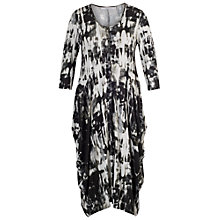 Buy Chesca Abstract Print Jersey Dress, Black/Ivory Online at johnlewis.com
