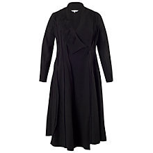 Buy Chesca Applique Trim Wool Coat, Black Online at johnlewis.com