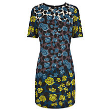Buy Oasis Border Rose Print Shift Dress, Multi Online at johnlewis.com