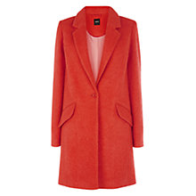 Buy Oasis Katy Car Coat, Coral Online at johnlewis.com