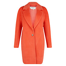 Buy Hobbs Felicity Wool Blend Coat, Grapefruit Online at johnlewis.com