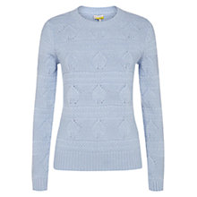 Buy Hobbs Mandy Wool and Cotton Sweater, Duck Egg Blue Online at johnlewis.com