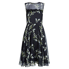 Buy Hobbs Invitation Abigale Dress, Navy Multi Online at johnlewis.com