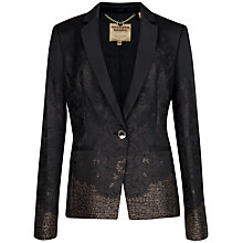 Buy Ted Baker Yera Jacquard Suit Jacket, Black Online at johnlewis.com