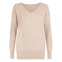 Buy Hobbs Ruby Wool Cashmere Blend Sweater, Oatmeal Online at johnlewis.com