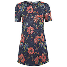 Buy Miss Selfridge Jacquard Necklace Dress, Dark Blue Online at johnlewis.com