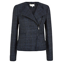 Buy Hobbs Carly Biker Jacket, Navy Online at johnlewis.com
