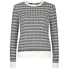 Buy NW3 by Hobbs Asha Cotton Sweater, Panna Cream & Black Online at johnlewis.com