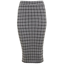 Buy Miss Selfridge Midi Check Pencil Skirt, Black Online at johnlewis.com