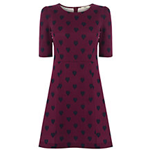 Buy Oasis Holly Heart Print Ponte Dress, Multi Online at johnlewis.com